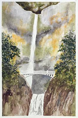 Multnomah Falls Art Print by Jean Moule