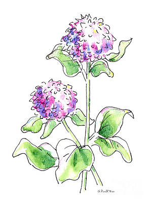 Painting - Mum Floral Drawings 1 by Gordon Punt