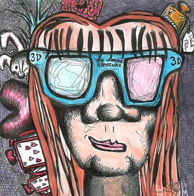 Drink Me Painting - Mum  by Jera Sky