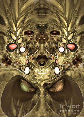 Digital Art - Mummy - Abstract Digital Art by Sipo Liimatainen