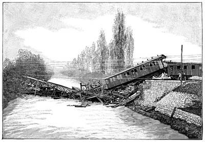 Munchenstein Rail Disaster, 1891 Art Print by