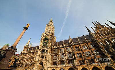 Munich City Hall Art Print by Holger Ostwald