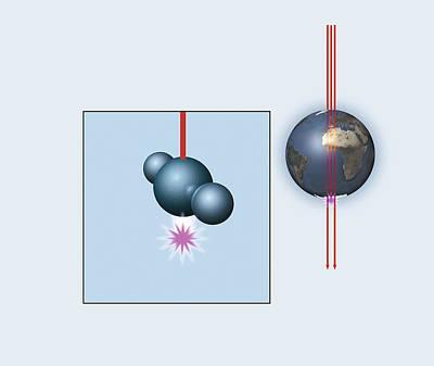 Muon And Neutrino Detector, Artwork Art Print by Mikkel Juul Jensen