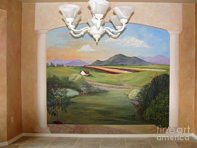 Painting - Mural - Room With A View by Phyllis Howard