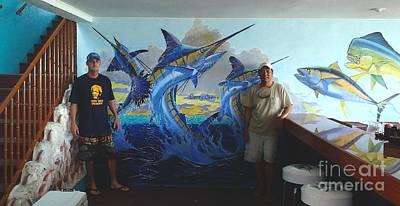 Mural In Bimini Art Print by Carey Chen