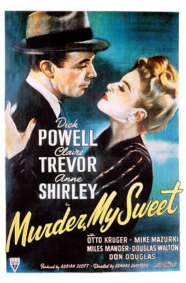 Murder, My Sweet, Dick Powell, Claire Art Print