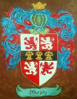 Shield Painting - Murphy Crest by Nancy Rutland