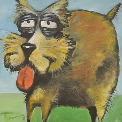 Dog Caricature Painting - Murphy Stout by Tim Nyberg