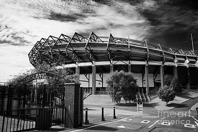 Rugby Photograph - Murrayfield Stadium Edinburgh Rugby Scotland by Joe Fox