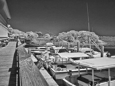 Photograph - Murrells Inlet Marshwalk - Infrared by Bill Barber
