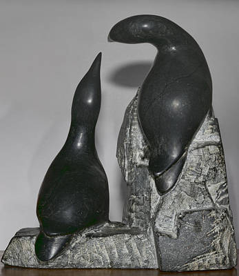 Sculpture - Murres by Gregory Scott