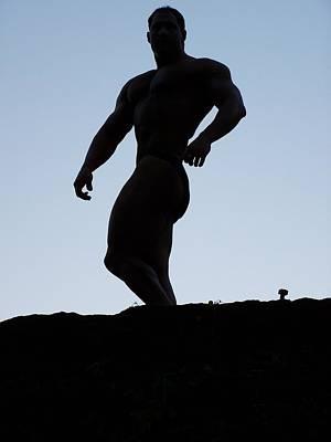 Muscleart Marius Greek Pose Art Print by Jake Hartz