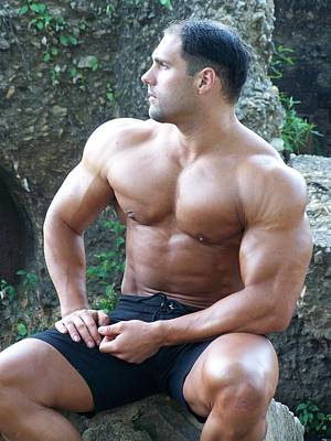 Nude Men Wrestling Photograph - Muscleart Marius Poser Classic   Seeking by Jake Hartz