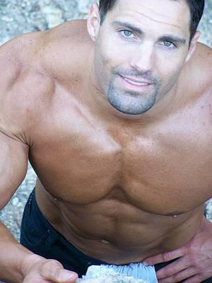 Nude Men Wrestling Photograph - Muscleart Marius Upwards by Jake Hartz
