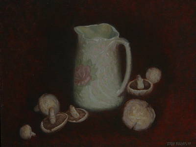 Painting - Mushrooms 1977 by Terry Perham