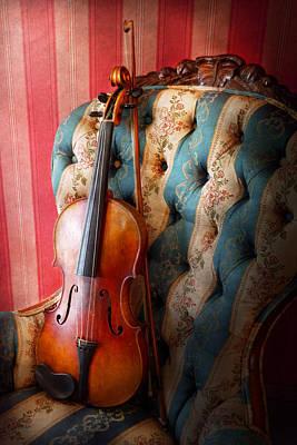 Music - Violin - Musical Elegance  Art Print