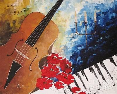 Music 2 Art Print by AmaS Art