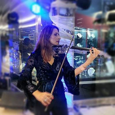 Music Wall Art - Photograph - #music At The #mall #violin #música by Idrialis Castillo