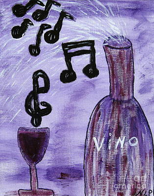 Music In My Glass Art Print