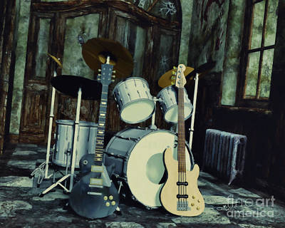 Digital Art - Music Is Everywhere by Jutta Maria Pusl