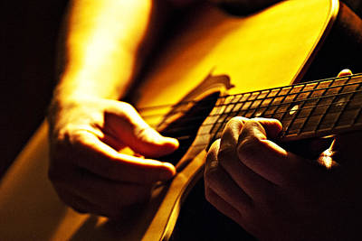 Guitar Photograph - Music Is Passion by Christopher Gaston
