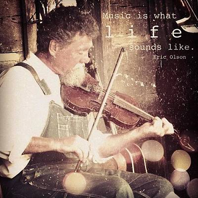 Fiddles Wall Art - Photograph - music Is What Life Sounds Like. by Traci Beeson