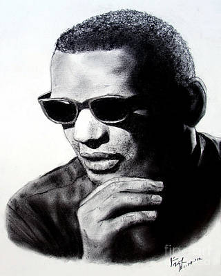 Painting - Music Legend Ray Charles by Jim Fitzpatrick