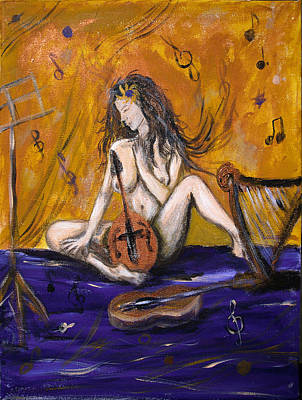 Painting - Music Muse by Elisabeth Dubois