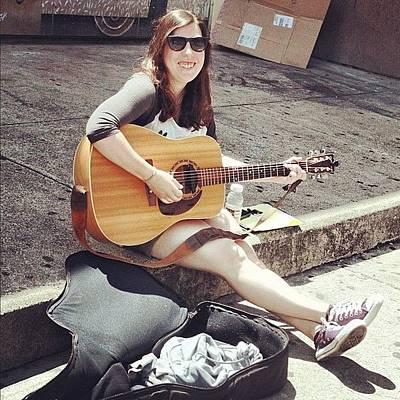#music #musician #singer #acoustic Art Print
