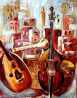 Music Of Morocco Art Print by Patricia Rachidi