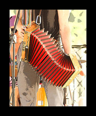 Photograph - Music Of The Red Accordion by Margie Avellino
