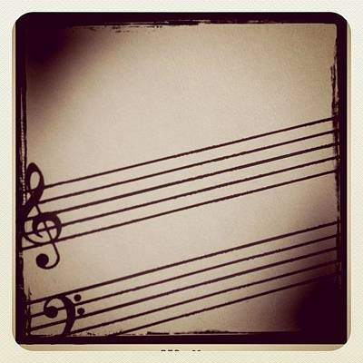 Piano Photograph - Music Sheet by Chris Fabregas