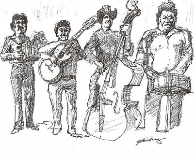 Drawing - Musica Tex Mex by Dean Gleisberg