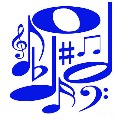 Digital Art - Musical Blue by Susan Stevenson