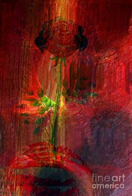 Limited Vision Mixed Media - Musical Flower by Fania Simon