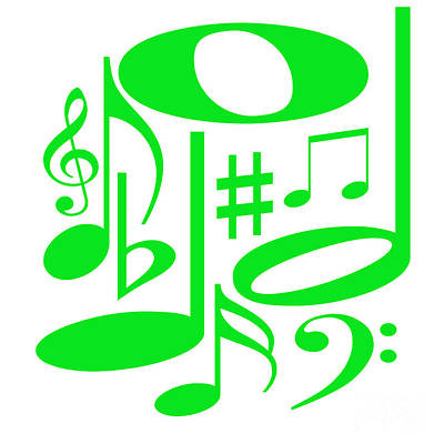 Digital Art - Musical Green by Susan Stevenson