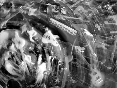 Photograph - Musical Motion In Black And White by Mark J Seefeldt