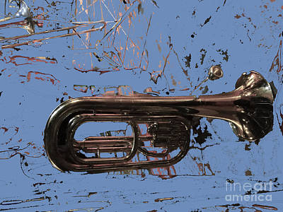 French Horn Photograph - Musical Noise by Al Bourassa