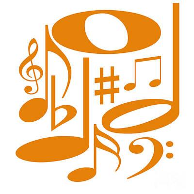 Digital Art - Musical Orange by Susan Stevenson