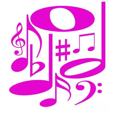 Digital Art - Musical Pink by Susan Stevenson