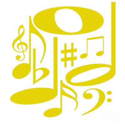 Digital Art - Musical Yellow by Susan Stevenson