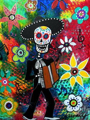 Musikero Dia De Los Muertos Original by Pristine Cartera Turkus