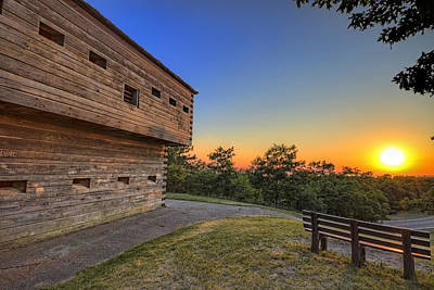 Sunset Photograph - Muskegon Blockhouse Hdr by Joe Gee