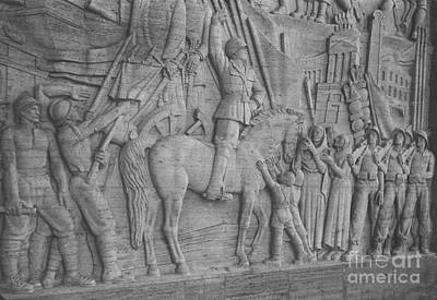 Mussolini, Haut-relief Art Print by Photo Researchers