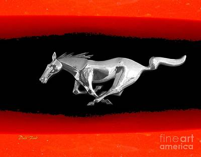 Digital Art - Mustang by Dale   Ford