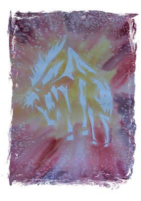 Mark Schutter Painting - Mustang Dance by Mark Schutter