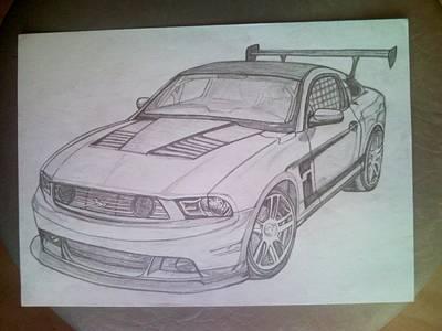 Mustang Art Print by Lucia Vratiakova