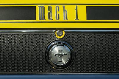 Photograph - Mustang Mach 1 Emblem by Jill Reger
