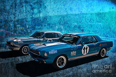 Muscle Car Masters Photograph - Mustang Racing by Stuart Row