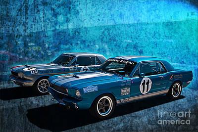 Photograph - Mustang Racing by Stuart Row